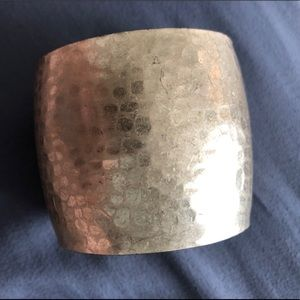 Jewelry - Brushed Gold Textured Cuff Bracelet